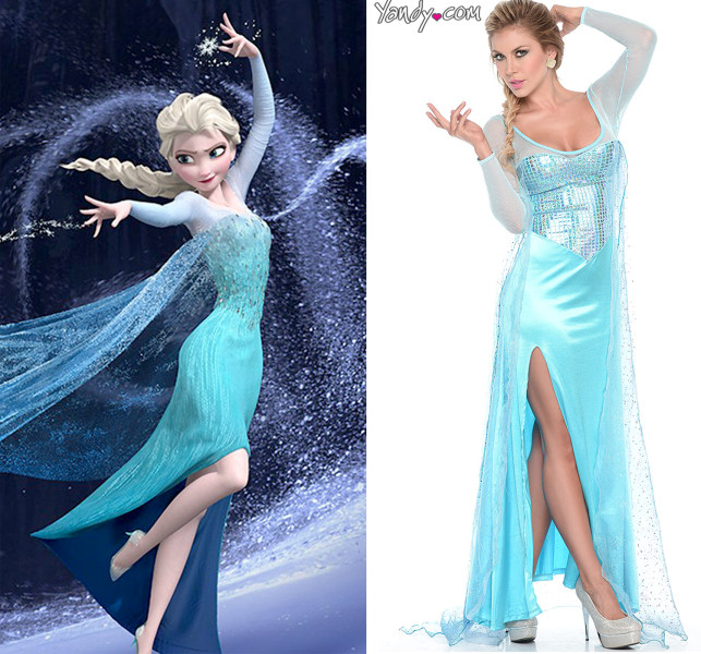 sexy frozen halloween costumes including olaf hit stores and make us uncomfortable todaycom - Halloween Costumes Of Elsa