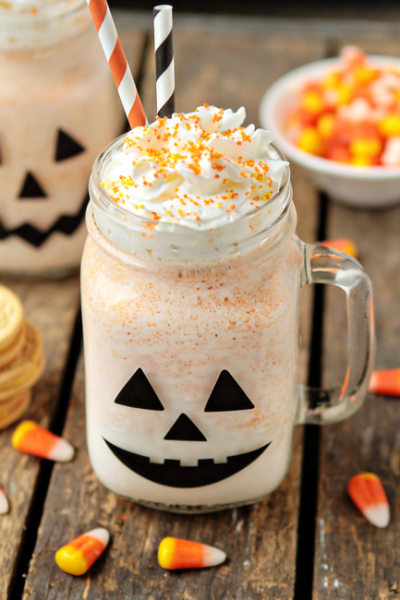 Candy Corn Oreo Milkshake
