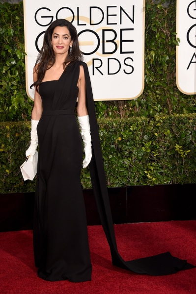 Amal Alamuddin Clooney's evening gloves caused a commotion at the ...