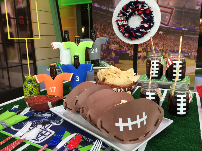 Decorate Your Super Bowl Party With 6 DIY Projects TODAYcom