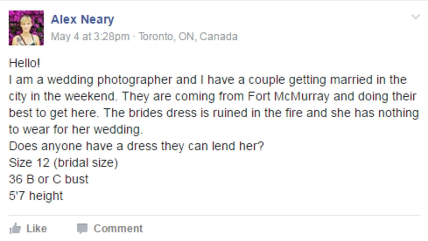 fort mcmurray wedding dress