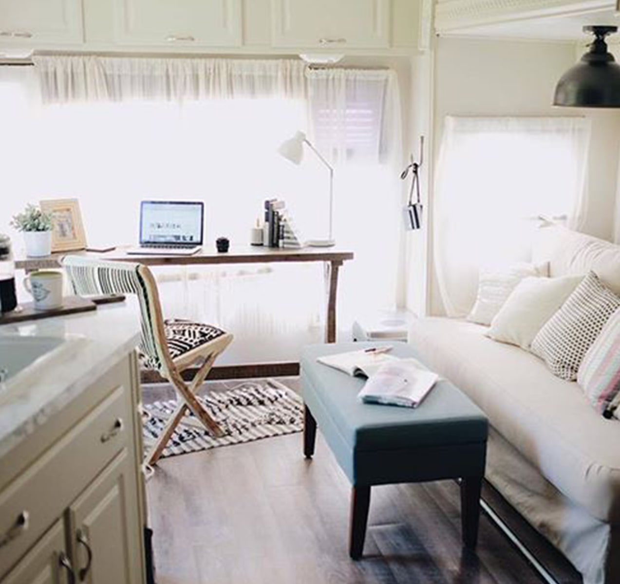 See this family's RV go from gloomy to glam after a DIY makeover