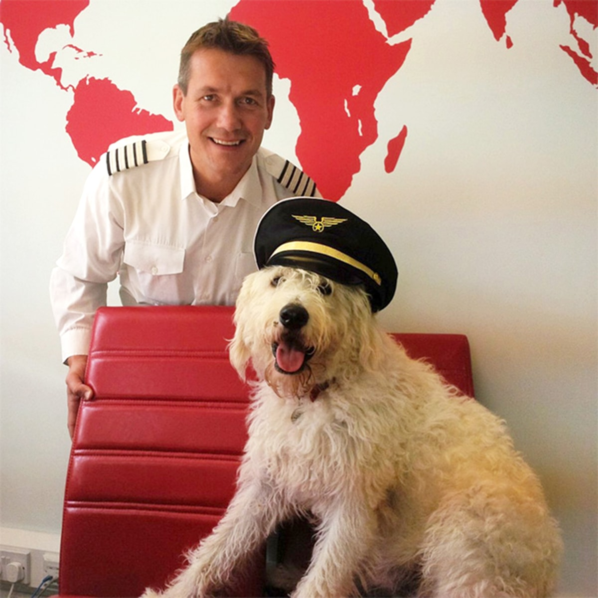 Dog flies on private planes