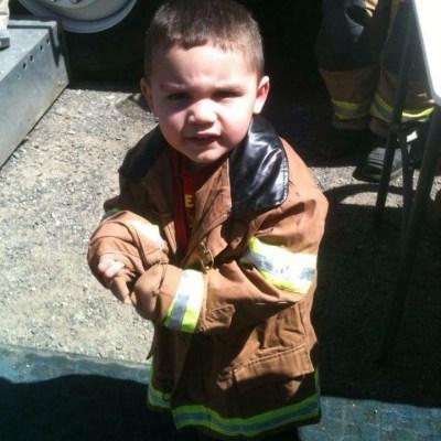 kindness Christian fire trucks leukemia boy