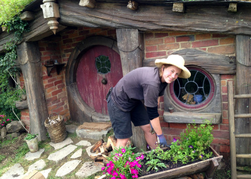 Image: Sarah McGraw at Hobbiton Tours