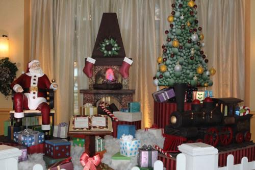 Image: Chocolate Santa display