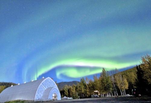 "Lighter version of ""Aurora Over Ice Museum""."