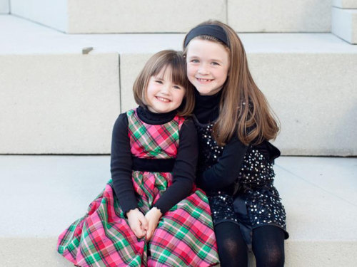 Emma, 9, and Abby, 4, have helped mom Ashley Gatewood Taylor get in the Christmas spirit.