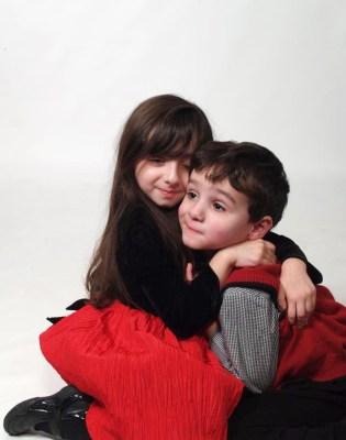 Emily, 4, and Adam, 3