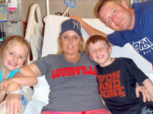 Stephanie Decker saved her two kids by laying on top of them during a tornado.