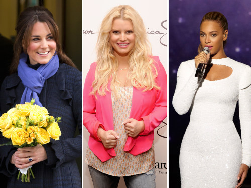 Duchess Kate, Jessica Simpson and Beyonce