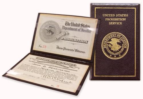 Prohibition Administrator Badge, 1931