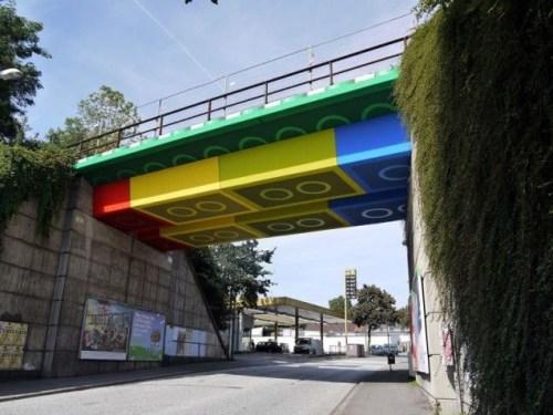 Lego Bridge in Wuppertal, Germany