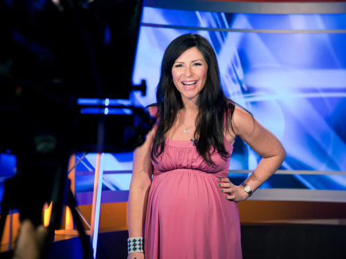 Large and in charge: Starting a new job when you're heavily pregnant has special challenges... especially if you work in TV.
