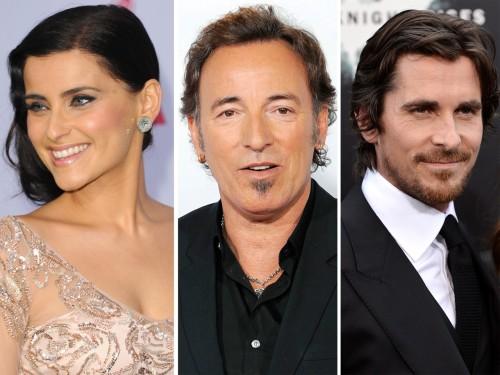 Nelly Furtado, Bruce Springsteen and Christian Bale (aka Bruce Wayne)