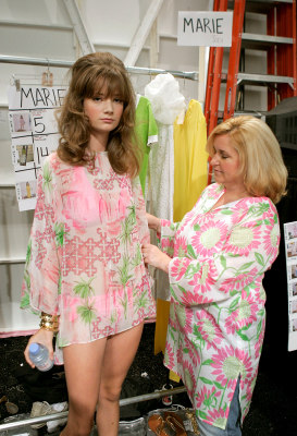 Image: Designer Lilly Pulitzer prepares a model