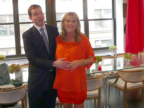 Henry Hager surprised his wife, Jenna Bush Hager, at her work baby shower.