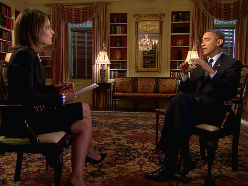 Savannah Guthrie interviewed President Obama from the White House.