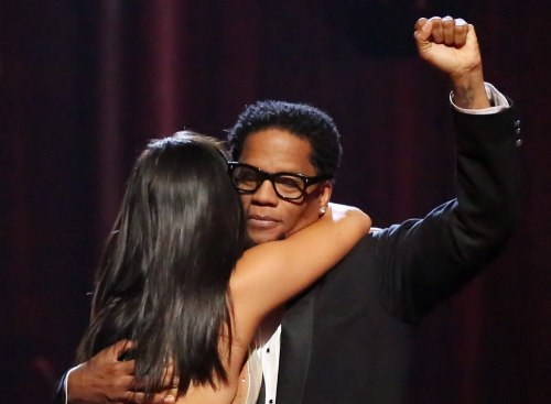 Comedian D.L. Hughley and pro partner Cheryl Burke were eliminated Tuesday.