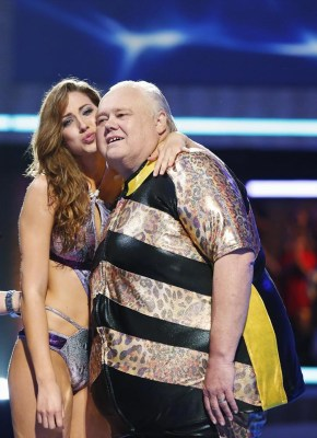 "Katherine Webb and Louie Anderson on ""Splash."""