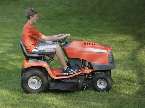 Mowing the yard is a fairly easy chore: 'See that long grass? Make it short.'