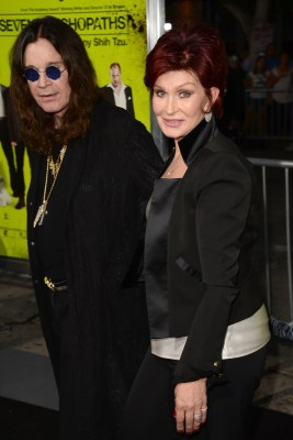 Ozzy Osbourne and Sharon Osbourne.