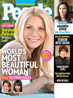 "Gwyneth Paltrow is People magazine's ""World's Most Beautiful Woman."""