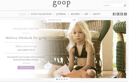 A child bikini on goop.com.