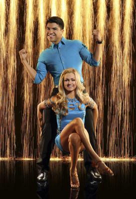 "Victor Ortiz and his ""Dancing With the Stars"" pro partner Lindsay Arnold."