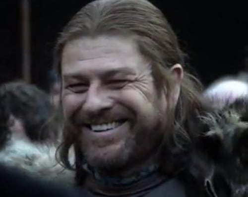 "Hey, Ned Stark! ""I'll be there for youuuuuuu ..."" Except, well, that one time when you really needed me."
