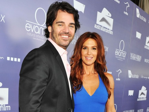 Shawn Sanford and Poppy Montgomery.