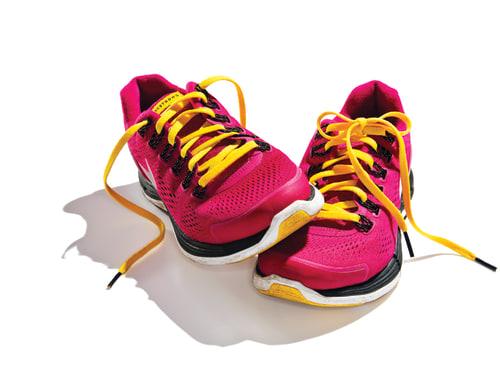 Image: Shoes from Boston Marathon