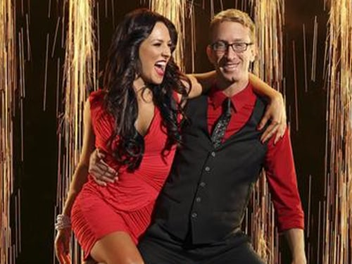 "Andy Dick and his ""Dancing With the Stars"" partner Sharna Burgess."