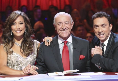 Carrie Ann Inaba, Len Goodman and Bruno Tonioli.