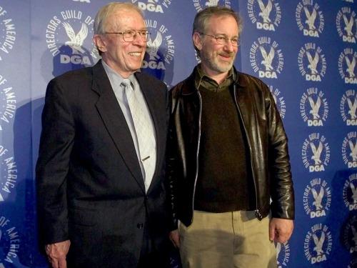 Jack Shea with Steven Spielberg
