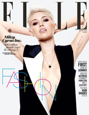 IMAGE: Miley Cyrus on the cover of ELLE UK.