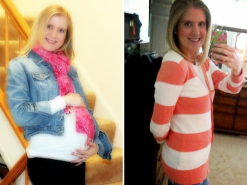 Kristen Alfred wore a belly wrap for two weeks after giving birth.