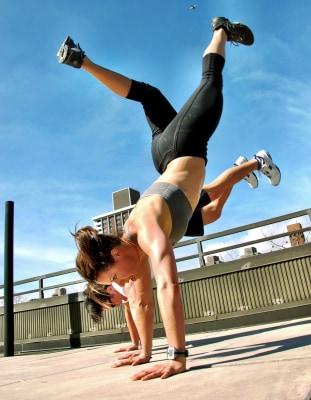 Jenna Wolfe pre-pregnancy workout