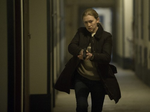 "Image: Mireille Enos as Sarah Linden on ""The Killing."""