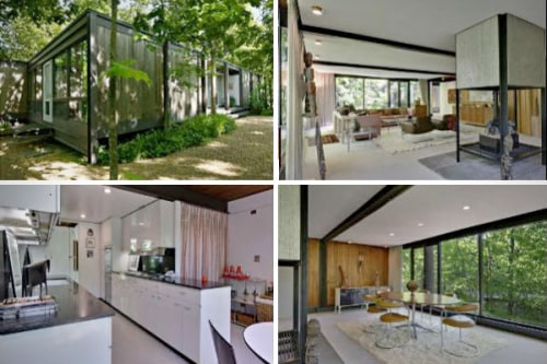 Images of the house used in the movie, Ferris Bueller's Day Off. The 4-bedroom main home was designed in 1953 by architect A. James Speyer, a protege of Mies Van der Rohe.
