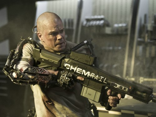 "Image: Matt Damon in ""Elysium"""