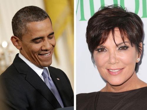 Image: President Barack Obama and Kris Jenner.