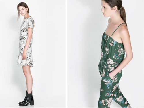 Looks from Zara's current collection.