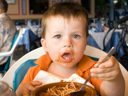 child, restaurant, toddler, eat, food, spaghetti, kid
