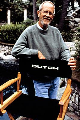 GET SHORTY, Author Elmore Leonard on-set, 1995