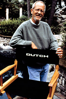 "Elmore Leonard on the set of ""Get Shorty"" in 1995; his nickname was ""Dutch."""