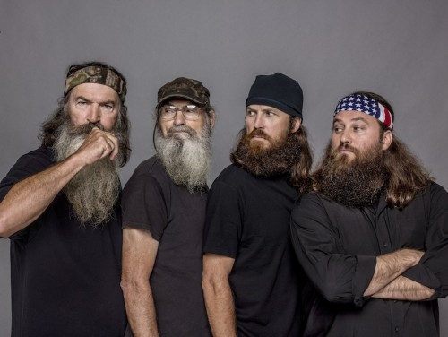 "The men of ""Duck Dynasty:"" Phil, Si, Jase and Willie Robertson."