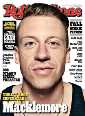 Macklemore on Rolling Stone