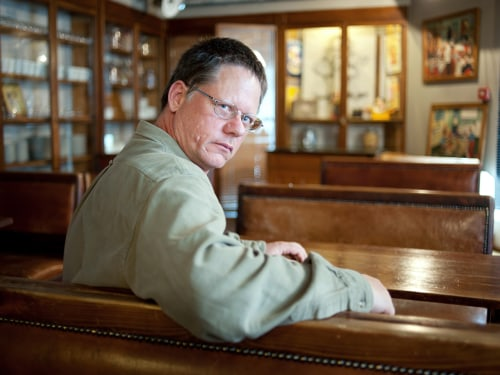 U.S. writer William Vollmann in 2012 in Lyon, central eastern France.