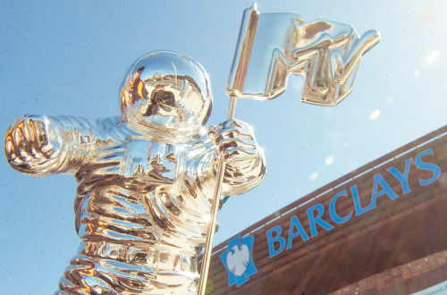 Image: Moon man at Barclays Center